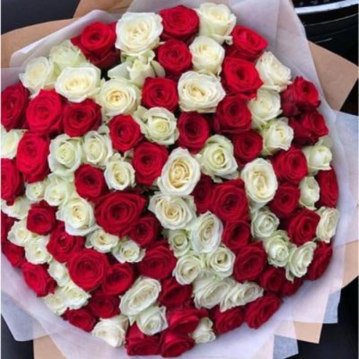 Trandafiri rosii & albi