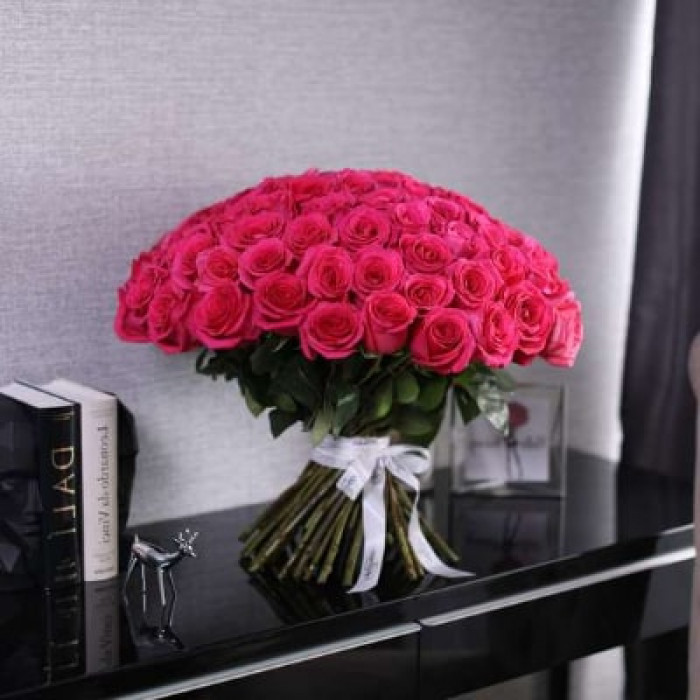 Buchet de trandafiri roz 50CM