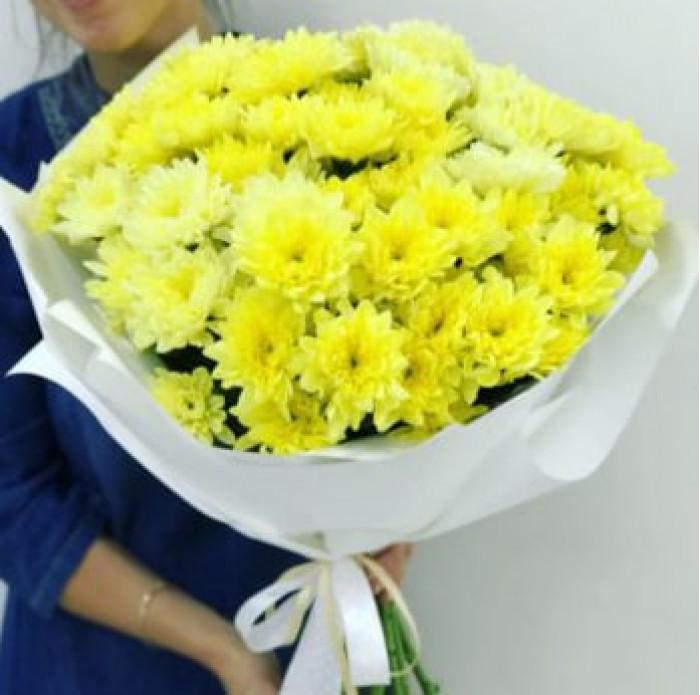 Buchet de crizanteme galbene