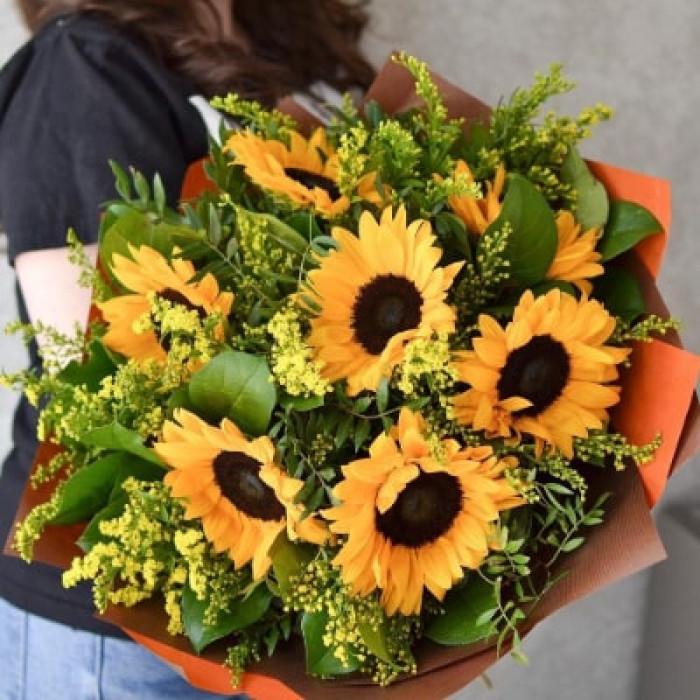 Buchet de vara din floarea soarelui