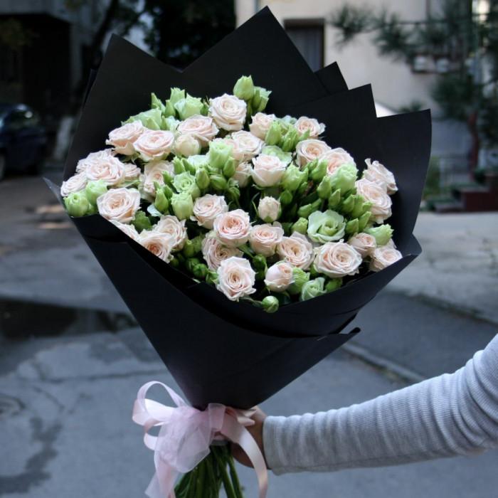 Buchet de trandafiri bej mini