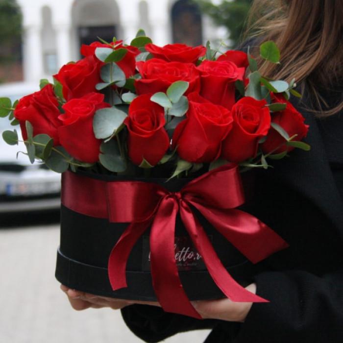 Cutie palarie - Trandafiri rosii