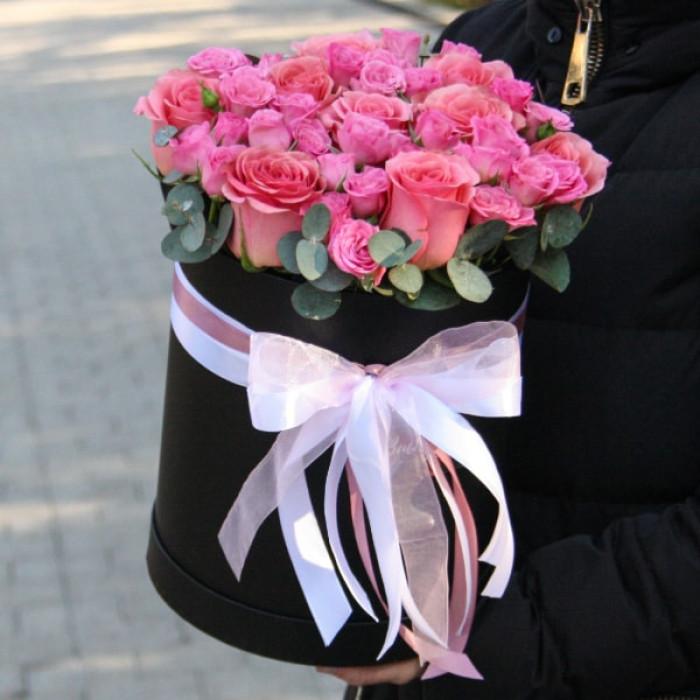 Cutie grandioasa de Trandafiri si Mini-rosa Roz