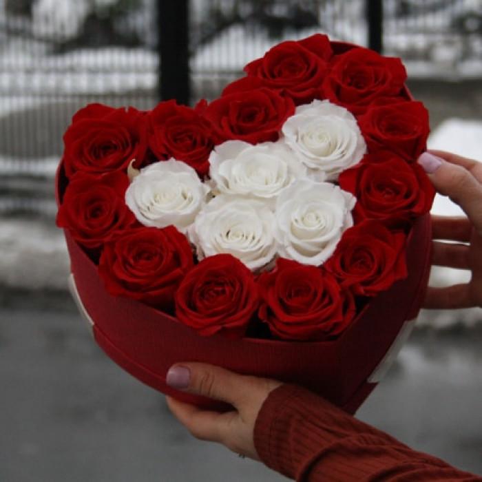 Inima din trandafiri Criogenati