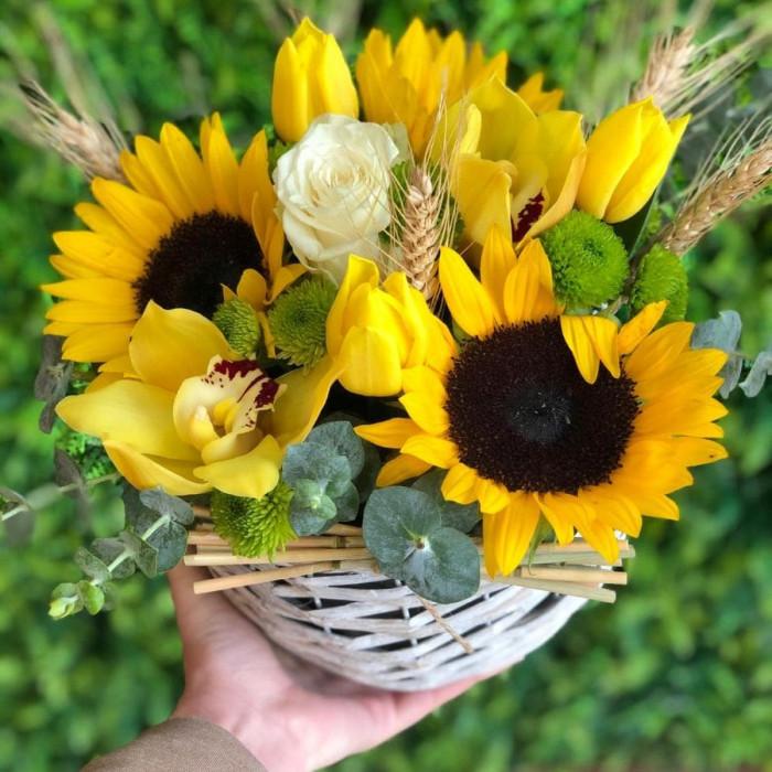 Aranjament vara cu floarea soarelui