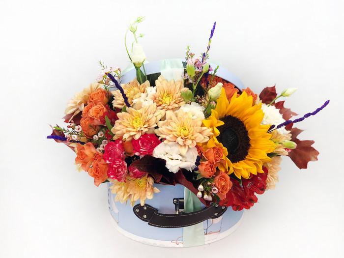 Cufăr cu flori de toamnă