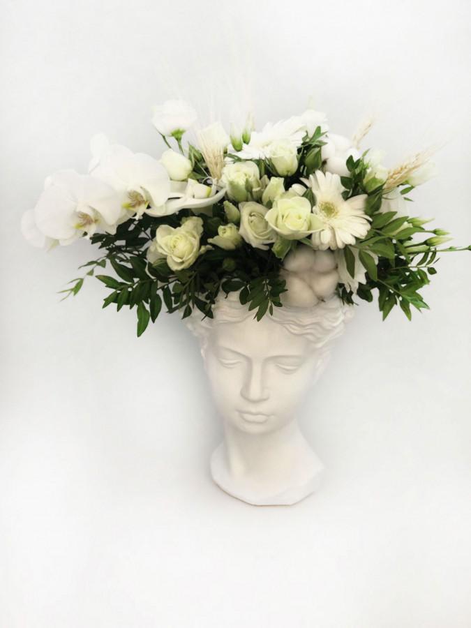 "Aranjament cu orhidee in vaza ""Venus"""