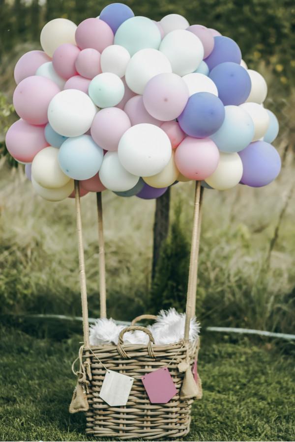 Cos cu baloane